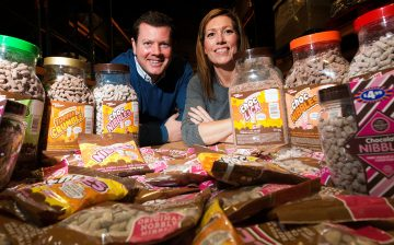 Sweet Dreams Directors Matt and Cath Stephenson with Choc Nibbles